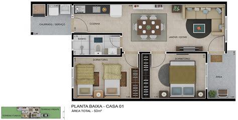 apartment 3d floor plans planta baixa de casa simples minha casa minha vida