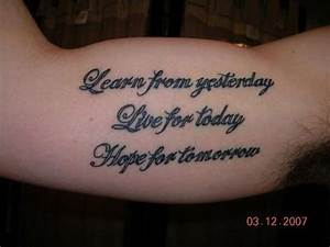 Ideas For Men Tattoo Quotes. QuotesGram
