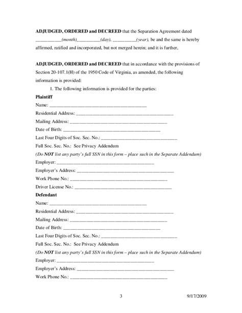 divorce decree template free word 39 s templates divorce