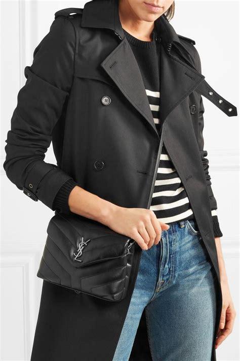 saint laurent monogram loulou small toy black calfskin leather cross body bag tradesy