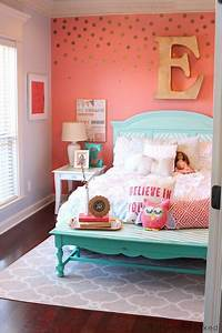 Tattered And Inked Coral Aqua Girl39s Room Makeover K