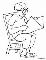 Reading Newspaper Indian Coloring Pages Village Drawing Pitara Line Network Child Mother Craft sketch template