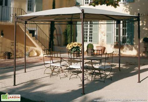 agr 233 able tonnelle jardin fer forge 4 tonnelle fer forg233 illusion hexagonale 45 m toile cid