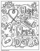 Coloring Nurses Nurse Week Nursing Appreciation Printables Care Thank Much Gifts Perfect Teacher Crafts Miss Student Principal Classroomdoodles sketch template