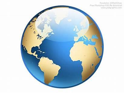 Globe Icon Clipart Photoshop Globes Psdgraphics Cliparts