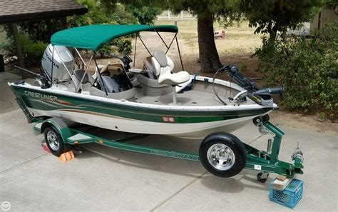 Aluminum Boats For Sale In Sc by 2004 Used Crestliner Fish Hawk 1750 Sc Aluminum Fishing
