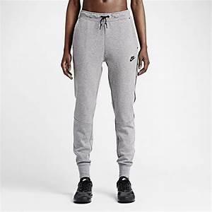 Nike Womens Tech Fleece Pants Carbon Heather Black