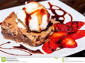 Strawberry Ice Cream Brownie Cupcake Stock Image - Image ...