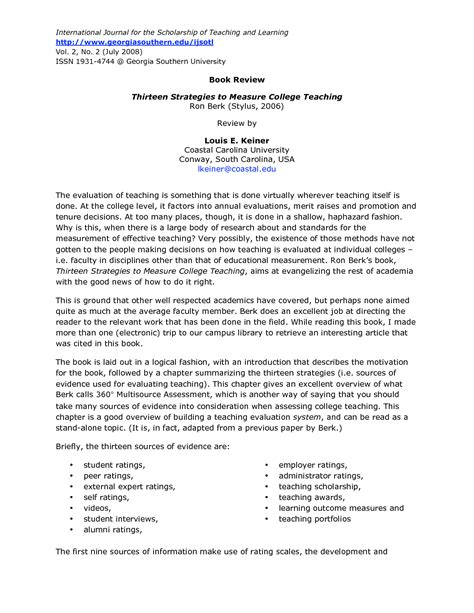 college level book report format college