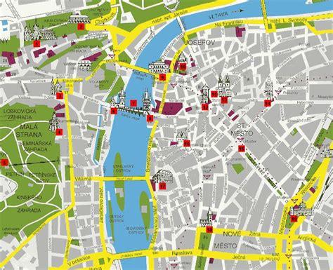 prague tourist map prague mappery