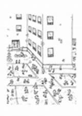 Spielplatz Speelplaats Dibujos Recreo Roepen Klimrek Ricreazione sketch template