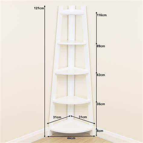 white  tier tall corner shelfshelving unit display stand