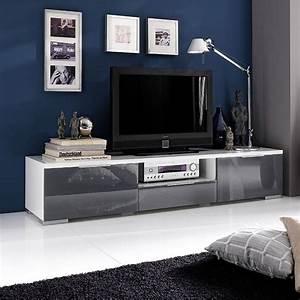 Lowboard Grau Hochglanz : lowboard viva 180cm in wei hochglanz lack grau ~ Whattoseeinmadrid.com Haus und Dekorationen
