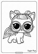 Lol Coloring Surprise Doll Printable Sugar Pup sketch template