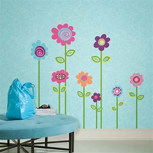 flower stripe giant removable wall decals wall2wall With flower wall decals