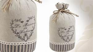 Cale Porte Tissu : cale porte 1 5 kg en coton et lin motif coeur ~ Teatrodelosmanantiales.com Idées de Décoration