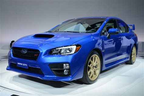 subaru cars black new 2015 subaru wrx sti sports car pictures details