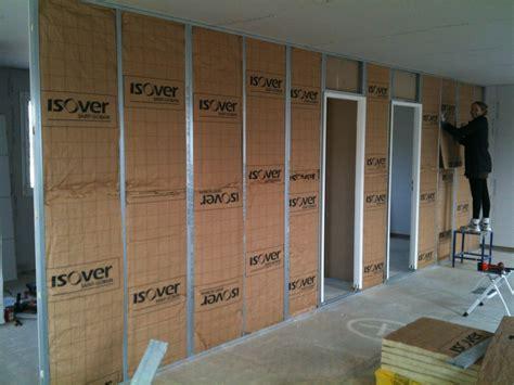 isolation plafond garage sous sol isolation plafond garage sous sol 12 cloison placo couloir et chambres le de la maison