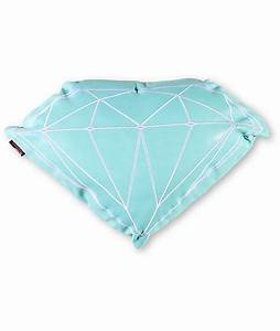 Diamond supply co brilliant teal white pillow for Diamond supply co pillow
