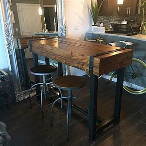Industrial style bar height table Our Portfolio