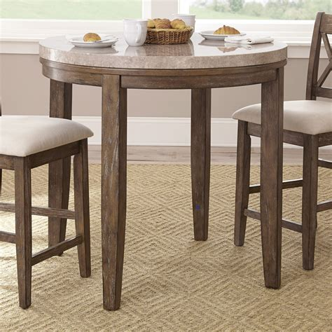 Pub Dining Table by Steve Silver Franco Marble Top Counter Height Dining