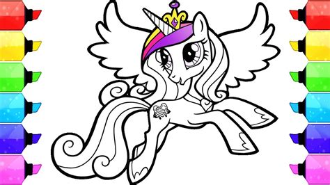 pony coloring book pages cadence   draw