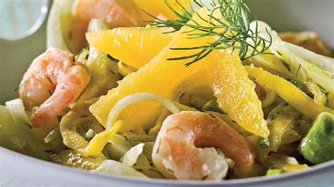 cuisine fenouil salade de crevettes fenouil et orange recettes