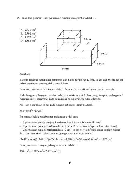 Cara mudah menghitung volume gabungan dua bangun ruang. Baru Soal Luas Permukaan Gabungan Balok Dan Kubus