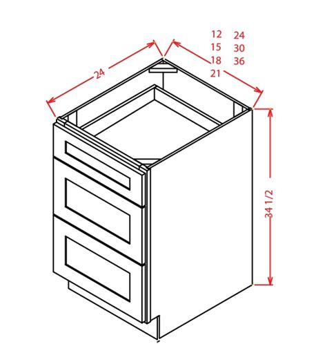 36 3 drawer base cabinet 3db36 3 drawer base cabinet 36 inch york chocolate 1