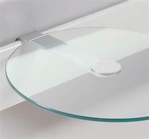 Ablage Zum Einhängen : nachttisch aus rundem esg glas malaga ~ Markanthonyermac.com Haus und Dekorationen