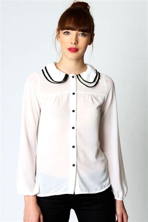 collar blouse pan collar blouse sleeveless blouse