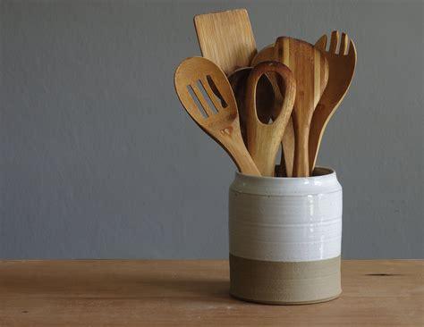 utensil kitchen holder talented holders utensils stoneware organizing etsy spoon decluttering jeri artisans organize