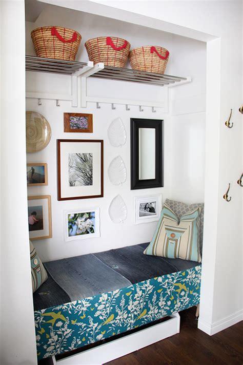 hometalk diy foyer bench  storage