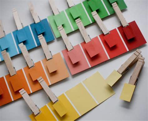 fun idea   kids  paint chips