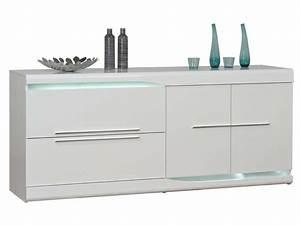 Buffet Salon Conforama : buffet 2 tiroirs 2 portes ovio coloris blanc laqu vente de buffet bahut vaisselier ~ Teatrodelosmanantiales.com Idées de Décoration