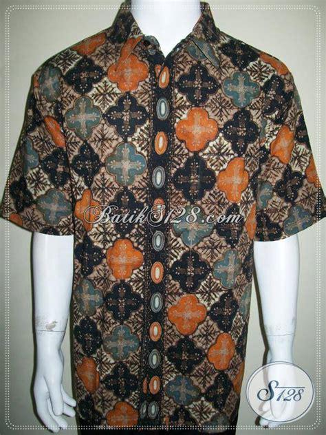 kemeja batik ukuran jumbo besar big size xxl lengan pendek