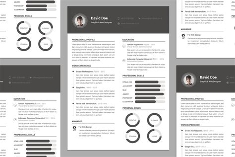 elegant resume cv design template psd file good