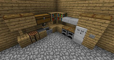 minecraft kitchen ideas pe