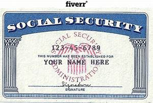 make novelty social security card driver license or With make a social security card template