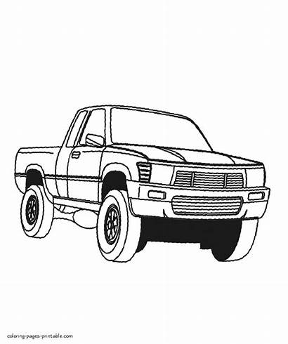 Coloring Truck Pages Pickup Printable Trucks Cars