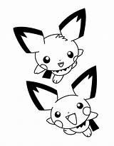 Pokemon Coloring Advanced Pichu Ausmalbilder Pikachu Kleurplaat Colorear Dibujos Kleurplaten Animaatjes Picgifs Malvorlagen Coloriages Printable Kawaii Eevee Gifs Serie Animadas sketch template