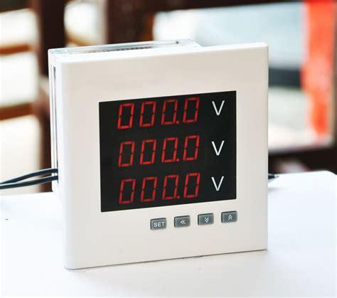 ac panel mount voltmeter three phase 0 20ma analog