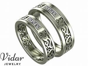 Unique Diamond Matching Wedding Bands Vidar Jewelry