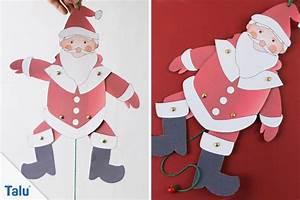Weihnachtsmann Basteln Aus Pappe : weihnachtsmann basteln anleitung und vorlagen ~ Haus.voiturepedia.club Haus und Dekorationen