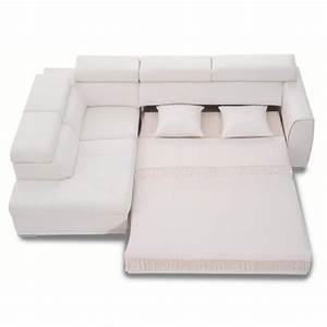 Canapé D Angle Cuir Blanc : canap d 39 angle convertible rose 3nllg cuir blanc achat ~ Melissatoandfro.com Idées de Décoration