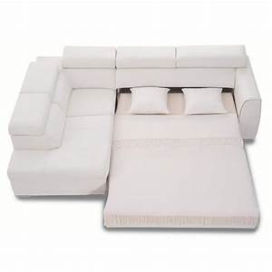 Canape Angle Cuir Blanc : canap d 39 angle convertible rose 3nllg cuir blanc achat vente canap sofa divan cuir ~ Teatrodelosmanantiales.com Idées de Décoration