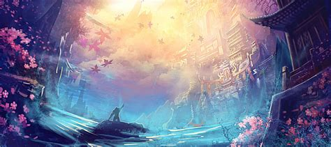 fantasy game scene decoration dream beautiful gradual