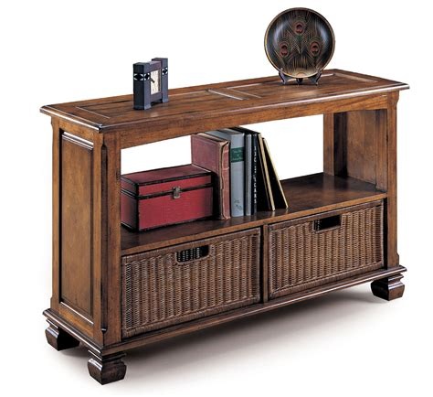 sofa table with baskets lane surrey sofa table with storage baskets by oj commerce