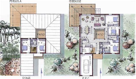plan maison 6 chambres maison ossature bois à étage 177 m 5 chambres