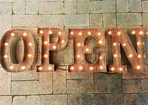 open sign letters custom business marquee light up letters With industrial marquee letters